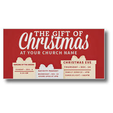 Gift of Christmas XLarge Postcard