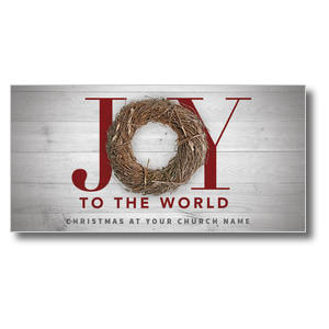 Joy Twig Wreath XLarge Postcards