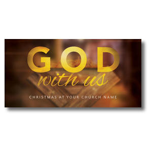 "God With Us Manger 11"" x 5.5"" Oversized Postcards"