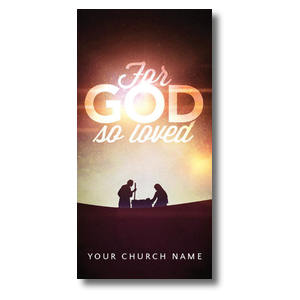 For God So Loved Nativity XLarge Postcards