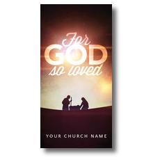 For God So Loved Nativity XLarge Postcard