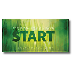 "Green Grass Start 11 x 5.5 Oversized Postcard 11"" x 5.5"" Oversized Postcards"
