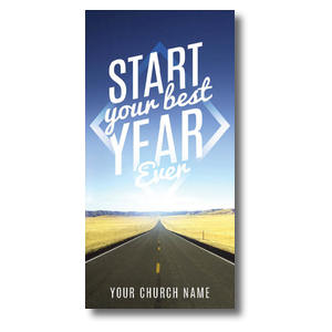 "Best Year Ever 11 x 5.5 Oversized Postcard 11"" x 5.5"" Oversized Postcards"