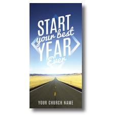Best Year Ever XLarge Postcard