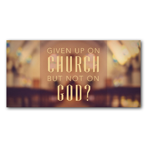 "Given Up Church 11 x 5.5 Oversized Postcard 11"" x 5.5"" Oversized Postcards"