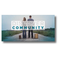 Discover Community People XLarge Postcard