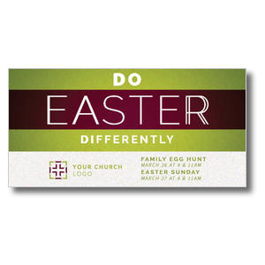 Do Easter Differently XLarge Postcards
