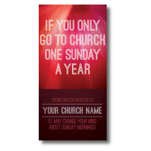 One Sunday a Year XLarge Postcards