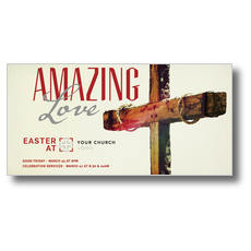 Amazing Love Cross XLarge Postcard