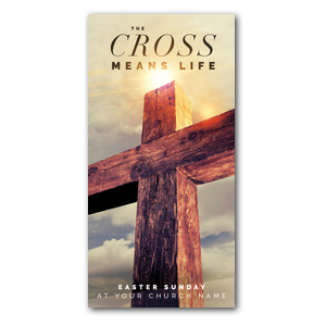 "Cross Means Life 11"" x 5.5"" Oversized Postcards"