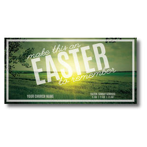 "Easter to Remember Green 11"" x 5.5"" Oversized Postcards"