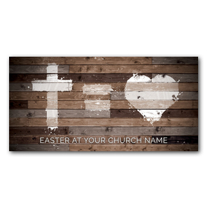 Cross Equals Love Church Postcards