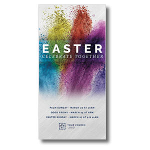 Easter Powder Paint Church Postcards