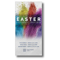Easter Powder Paint XLarge Postcard