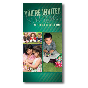 Invited This Easter Green XLarge Postcards