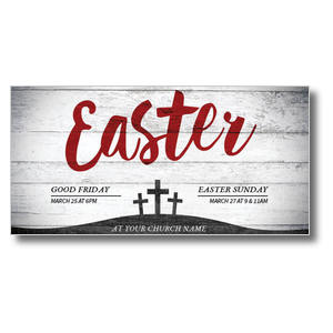 "Red Easter 11"" x 5.5"" Oversized Postcards"