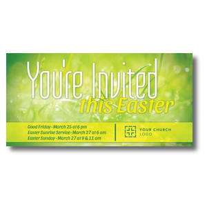 You're Invited Easter Green XLarge Postcards