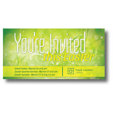 You're Invited Easter Green