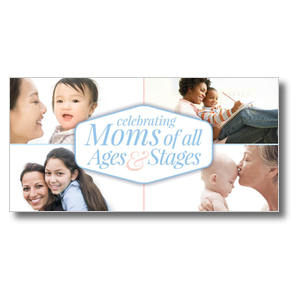 "Stages of Motherhood 11 x 5.5 Oversized Postcard 11"" x 5.5"" Oversized Postcards"