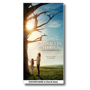 "Miracles from Heaven 11 x 5.5 Oversized Postcard 11"" x 5.5"" Oversized Postcards"