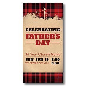 "Father's Day Plaid 11 x 5.5 Oversized Postcard 11"" x 5.5"" Oversized Postcards"