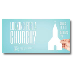 "Looking Church 11"" x 5.5"" Oversized Postcards"
