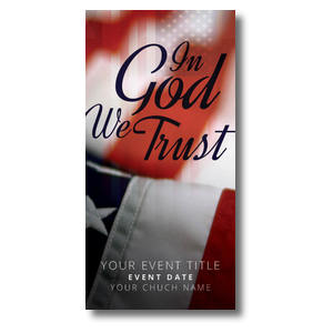 "God We Trust 11"" x 5.5"" Oversized Postcards"