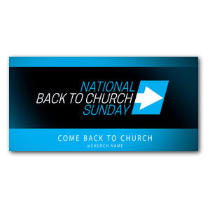 "Come Back to Church BTCS 11"" x 5.5"" Oversized Postcards"