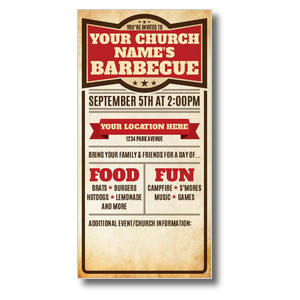 BBQ Details Church Postcards