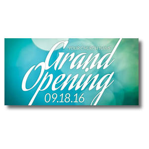 "Grand Opening Blue Lights 11"" x 5.5"" Oversized Postcards"
