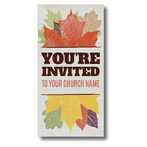 "Stamped Leaves 11"" x 5.5"" Oversized Postcards"