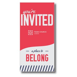 "To Belong Red 11"" x 5.5"" Oversized Postcards"