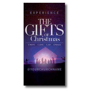The Gifts of Christmas Advent XLarge Postcards