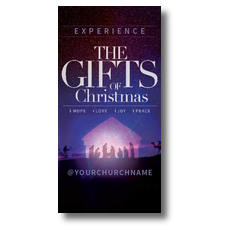 The Gifts of Christmas Advent XLarge Postcard
