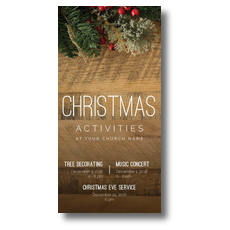 Christmas Activities XLarge Postcard