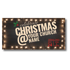 "Christmas At Lights 11"" x 5.5"" Oversized Postcards"
