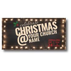 Christmas At Lights XLarge Postcard