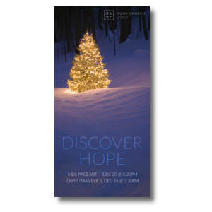 "Discover Hope Bright Tree 11"" x 5.5"" Oversized Postcards"