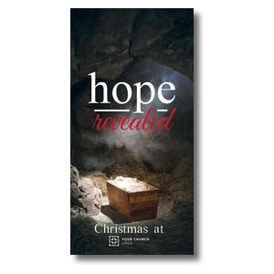 "Hope Revealed Manger 11"" x 5.5"" Oversized Postcards"