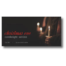 People Christmas Eve Candles XLarge Postcard