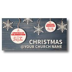 Wood Ornaments XLarge Postcard