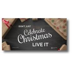 Celebrate Live It XLarge Postcard