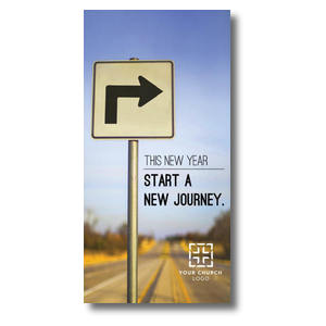 "New Year Right Turn 11"" x 5.5"" Oversized Postcards"