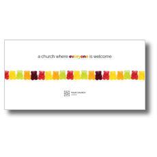 Gummi Bear Welcome XLarge Postcard