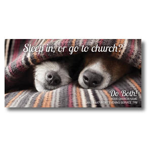 Sleep In Or Church XLarge Postcards