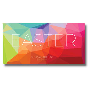 Bright Geometric Easter XLarge Postcards