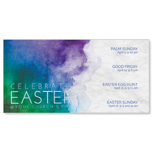 Celebrate Watercolor Easter Church Postcards