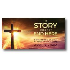 Cross Story XLarge Postcard