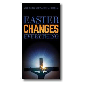 Easter Changes Cross XLarge Postcards