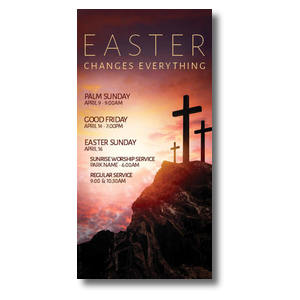 Easter Crosses Hilltop Church Postcards